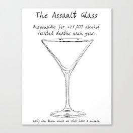 Assault Glass Canvas Print