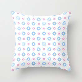 stars 118- blue and pink Throw Pillow
