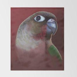 Yellow - Sided Green Cheek Conure Parakeet Throw Blanket