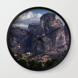 Postcards from Meteora Wall Clock