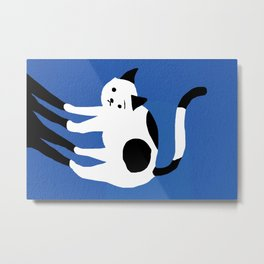 Abstraction_CAT_BLUE Metal Print
