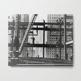 Steel workers New York City Metal Print