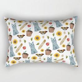 Summer Pattern (on White) Rectangular Pillow