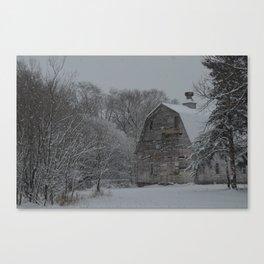 Zimmerman White Barn I Canvas Print
