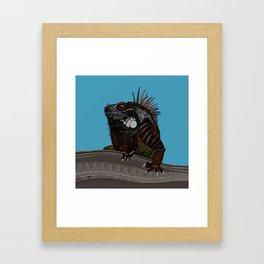iguana blue Framed Art Print