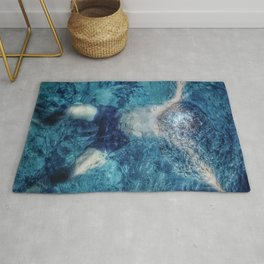 Diffraction swimming pool Rug