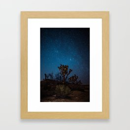 Midnight Stars at Joshua Tree Framed Art Print
