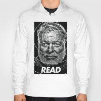 hemingway Hoodies featuring Hemingway  by Ugly Borealis