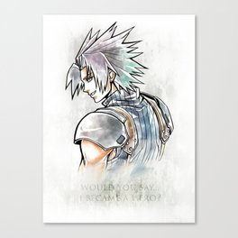 Zack Fair Artwork ( Final Fantasy VII - Crisis Core) Canvas Print
