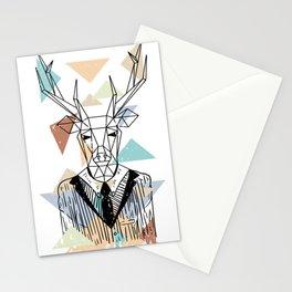 Geometric Deer Stationery Cards