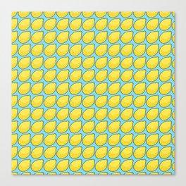 Lemons on Bright Blue Canvas Print
