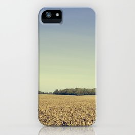 Lonely Field in Blue iPhone Case