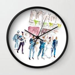Bienvenue en Louisiane Wall Clock