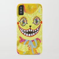 cheshire cat iPhone & iPod Cases featuring Cheshire Cat by Janna Morton