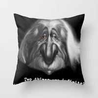 einstein Throw Pillows featuring einstein by Andrei Sky