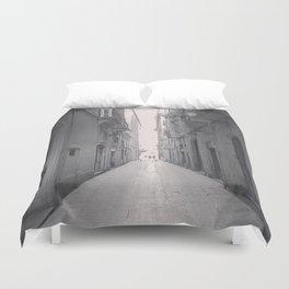 Old town Barcelona Duvet Cover