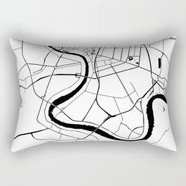 Bangkok Thailand Minimal Street Map Rectangular Pillow