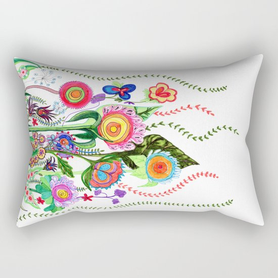 FLOWERS IN MEXICO Rectangular Pillow