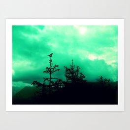 caligo in monte Art Print