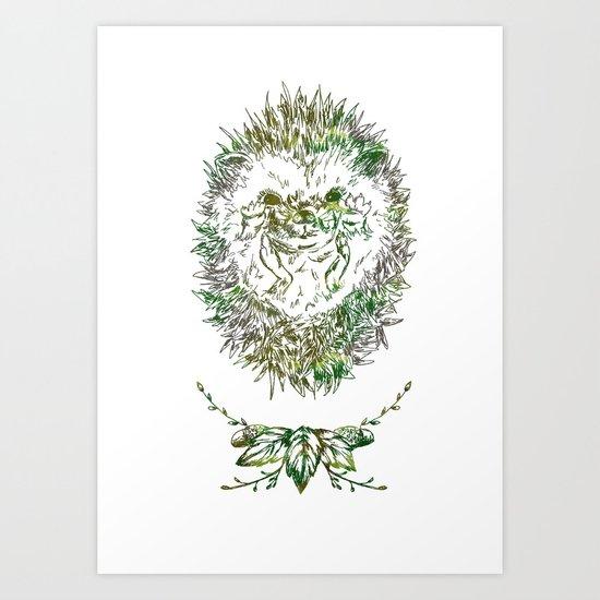 Little Hadgehog Art Print