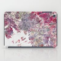 oslo iPad Cases featuring Oslo Map by MapMapMaps.Watercolors