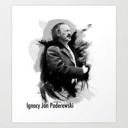 Ignacy Jan Paderewski - Polish Prime Minister, Polish Pianist Art Print