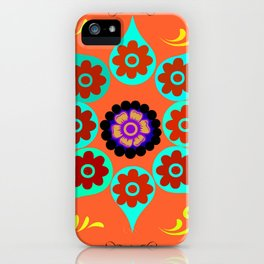 Talavera Tile Orange iPhone Case