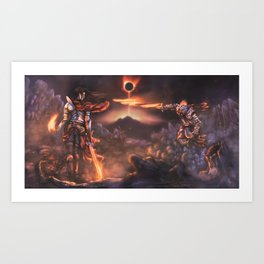The Pyromancer (Dark Souls Fan Art) Art Print