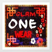 Slam One Wear Chinese Garden Art Print