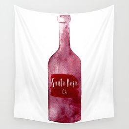 Santa Rosa, CA - Wine Country Love Wall Tapestry