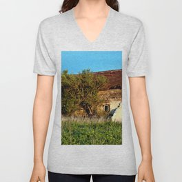 Abandoned Country Barn Unisex V-Neck
