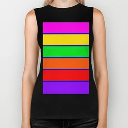 Colorful rAinbow stripes Biker Tank
