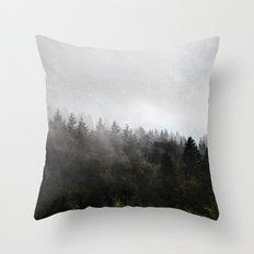 Misty Forest II Throw Pillow