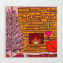 Modern Christmas Wood Wall Art