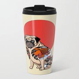 Yakuza Pug Metal Travel Mug