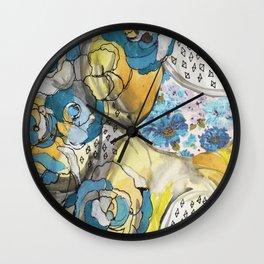 the blues...remix Wall Clock
