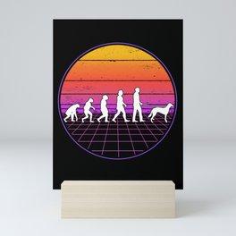 Saluki Vaporwave Evolution Persian Greyhound Mini Art Print