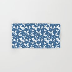 Drawings from Stonecrop Garden, Pattern in Blue & White Hand & Bath Towel