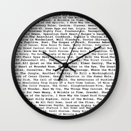 Banned Literature Internationally Print Wall Clock