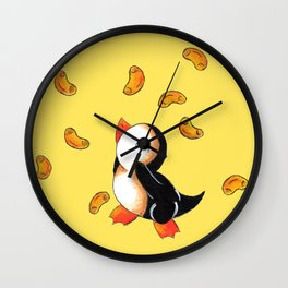 Macaroni Penguin Wall Clock
