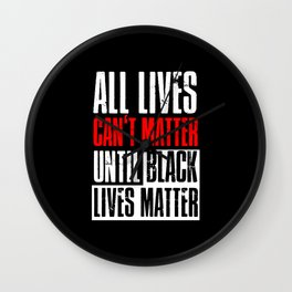 Black Lives Matter Outfit Ideas Wall Clock
