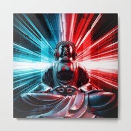 Techno Buddha Metal Print
