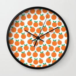 Oranges - sweet fruit summer fresh vegan vegetarian juicing cleanse art print home office decor Wall Clock