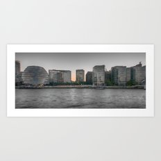 A view From The River Thames London Art Print