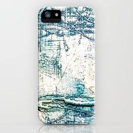 Subtle Blue Textured Acrylic Painting iPhone Case