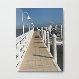 """Pier at Sanabel Island, Florida"" Photography by Willowcatdesigns Metal Print"