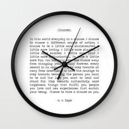 Chances Wall Clock
