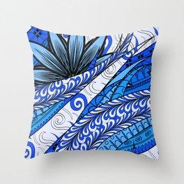 Boho Stylized Rope Pattern Throw Pillow