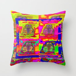 CRAZY NUT OLD CARS Throw Pillow
