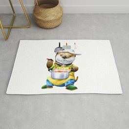 A sea otter cooking Rug